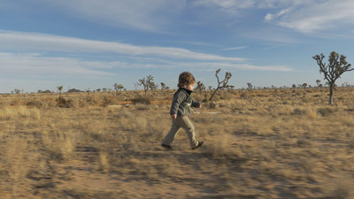 "Two-year-old Sonny adventuring in the wilds of Joshua Tree National Park in ""Little Expeditions,"" celebrating our innate desire to explore (PRNewsFoto/The North Face)"