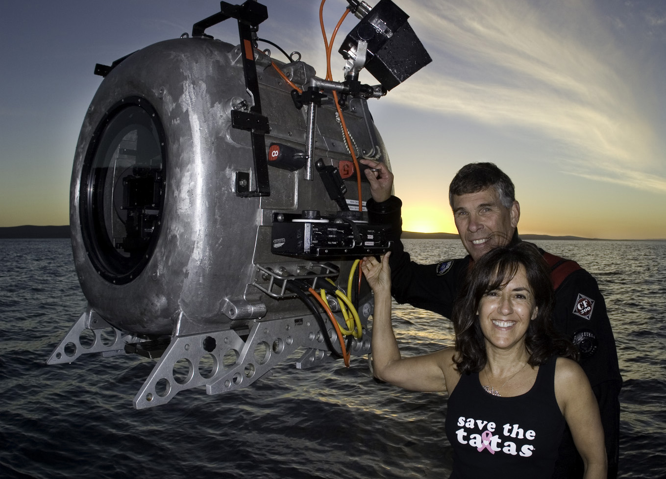 Howard and Michele Hall with IMAX 3D camera for Under the Sea 3D