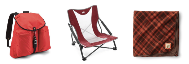 REI Rusack, Camping Chair, and Blanket. And, 1 2022NTFF All-Access Pass